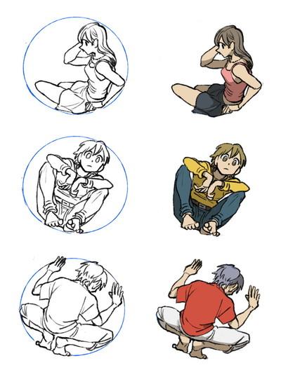円で描いた作例