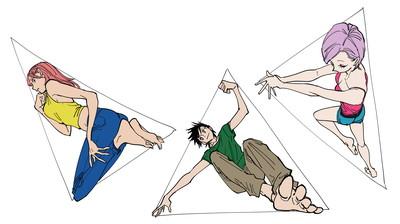 三角形で描いた作例