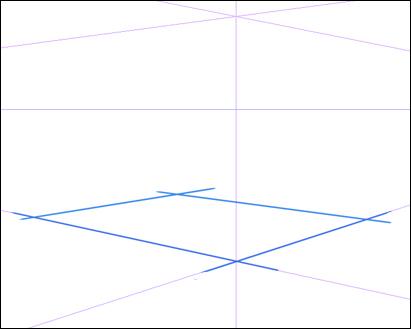 床になる四角形を描く
