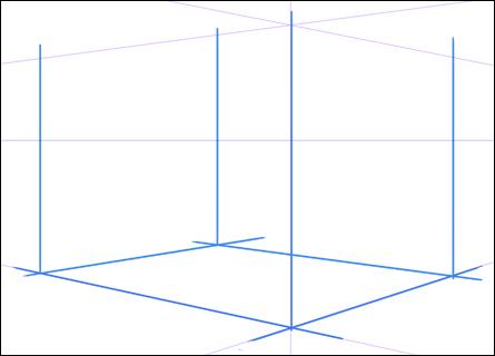 壁の線を描く