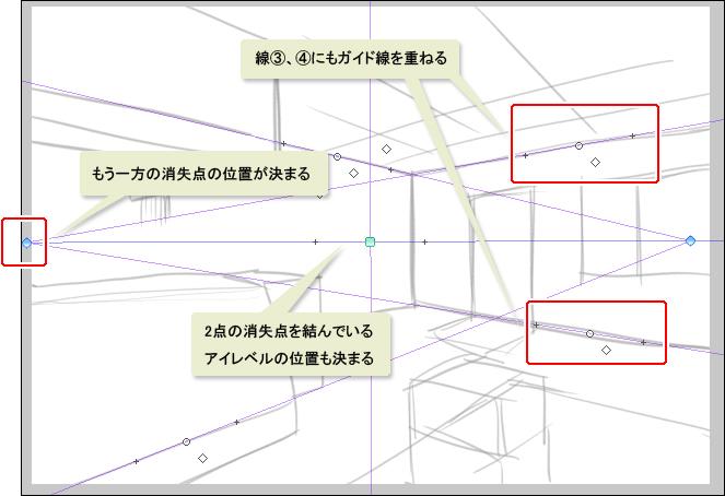 消失点2の位置を確定