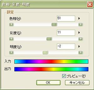 色彩・彩度・明度パレット