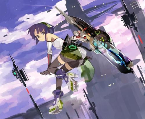 10背景背景のレイアウト Shihouが描く女の子メカ宝石の3つの
