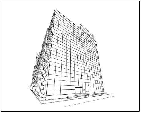 ビルの線画完成図