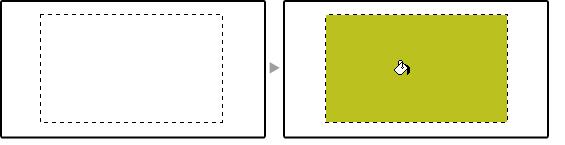 [選択]ツールで作成した選択範囲内を塗りつぶす